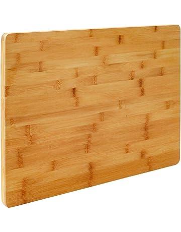 Eyepower Tabla de Cortar de bambú | 49x34cm tamaño Grande | Tabla de Cocina de Madera