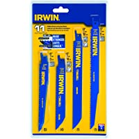 11-Piece IRWIN Tools 4935496 Reciprocating Saw Blade Set