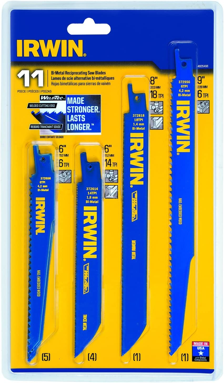 IRWIN Tools Reciprocating Saw Blade Set
