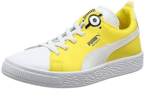 Puma Minions Basket BS AC PS, Sneakers Basses Mixte Enfant