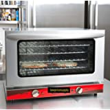 Half Size Commercial Restaurant Kitchen Countertop Electric Convection Oven Holds (4) 1/2 size sheet pans 120V, 1600W by LowPriceSupply