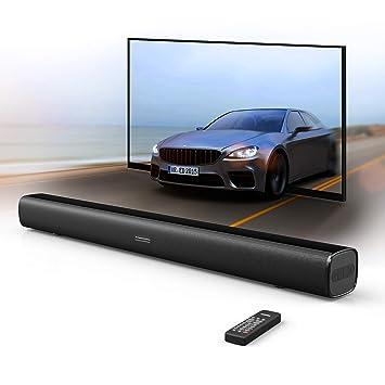 Sound Bar, Bluetooth Surround Sound Bar speaker 29.5-Inches 2.0 Channel Home TV Soundbar