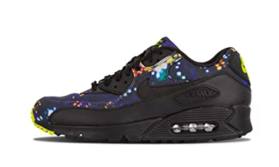 new arrival 4c109 b5930 NIKE Air Max 90 Premium 700155-070 Black Volt Dark Grey Men s Shoes