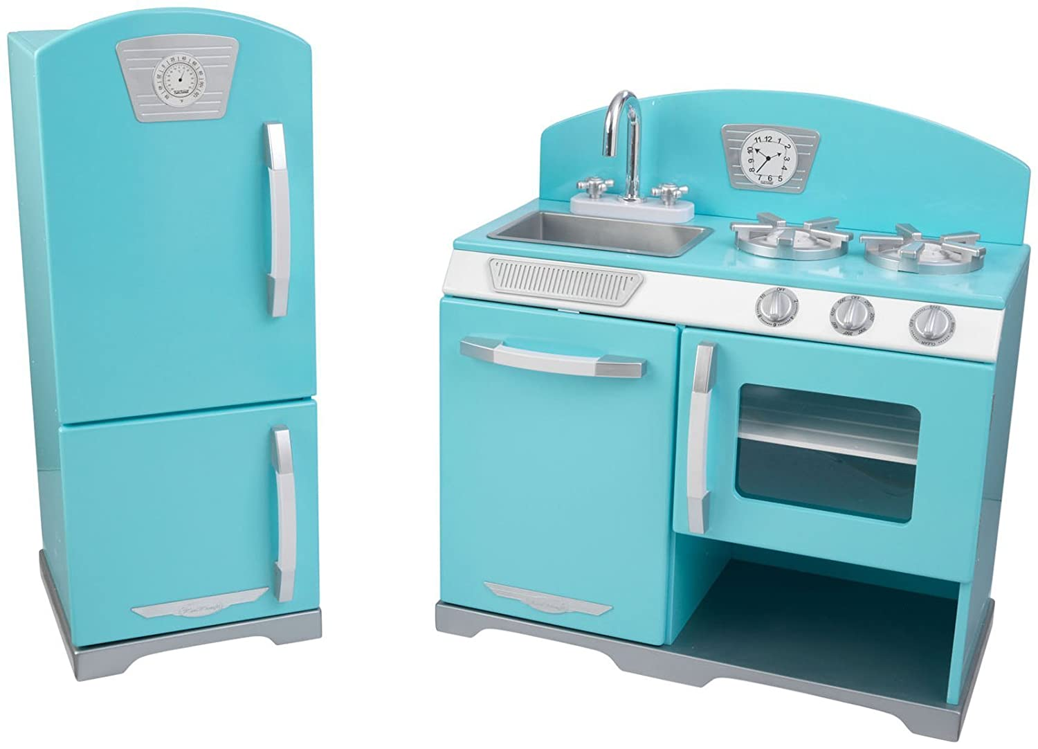 Amazon.com: KidKraft 2-Piece Retro Kitchen, Blue: Toys & Games