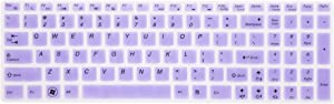 Leze - Ultra Thin Silicone Keyboard Cover Protector for Lenovo Ideapad Flex 3 15'', Ideapad Y700 15'' & 17'', 700 15'' & 17'', 500 15'', 500s 15'', 300 15'' & 17'', Y700S 15'' Laptop - Purple