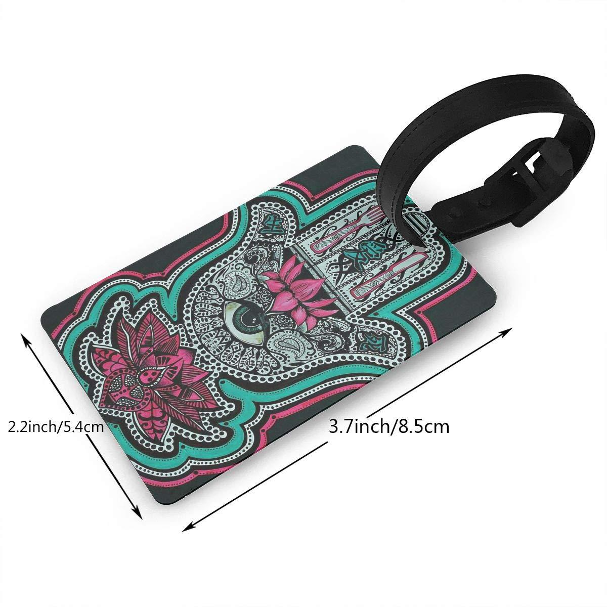 Hamsa Hand Of Fatima Handbag Tag For Travel Tags Accessories 2 Pack Luggage Tags