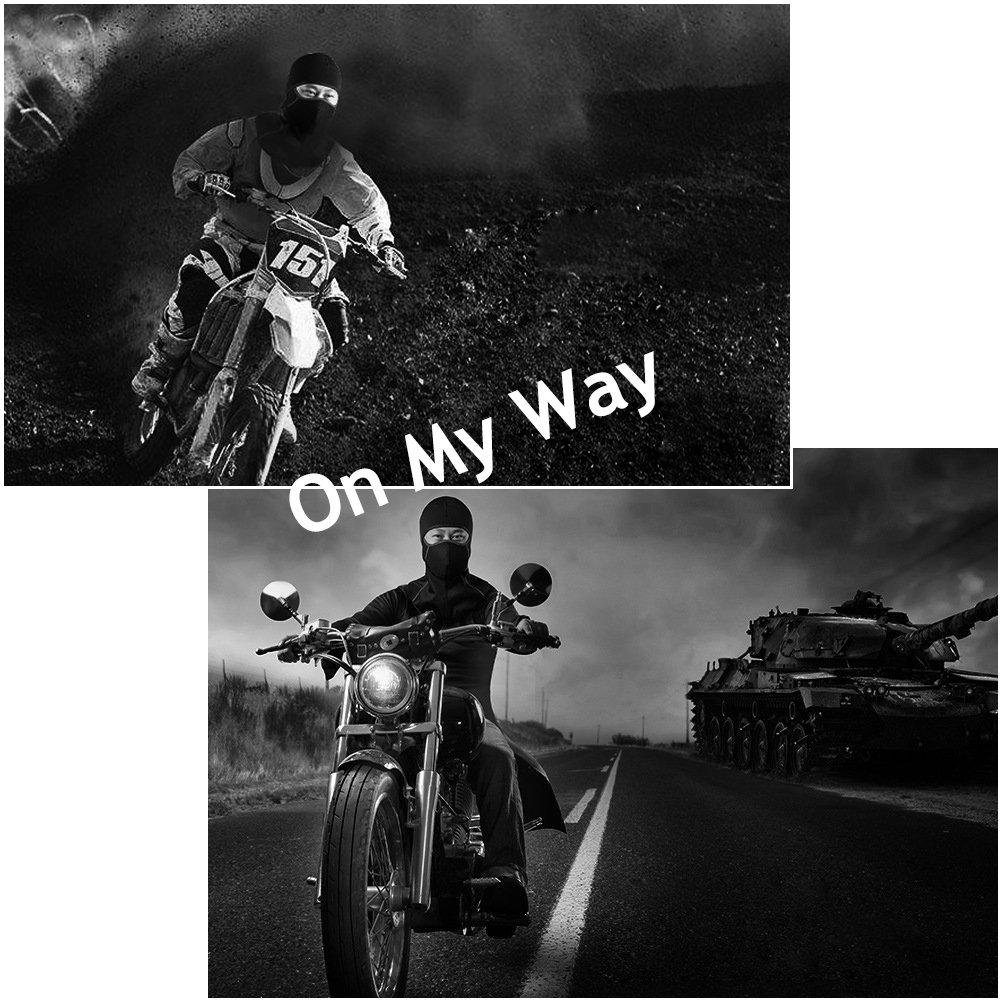 mit Rei/ßverschluss A-Schwarz ROTTO Sturmhaube Balaclava Skimaske Motorradmaske f/ür Winter Motorrad Ski Radsport Wasserdicht Winddicht Thermal
