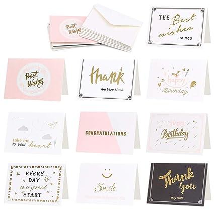 Tarjetas de agradecimiento de Cooloo, 50 unidades, notas de ...