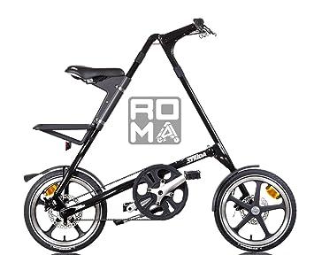 Strida - Bicicleta plegable, color negro