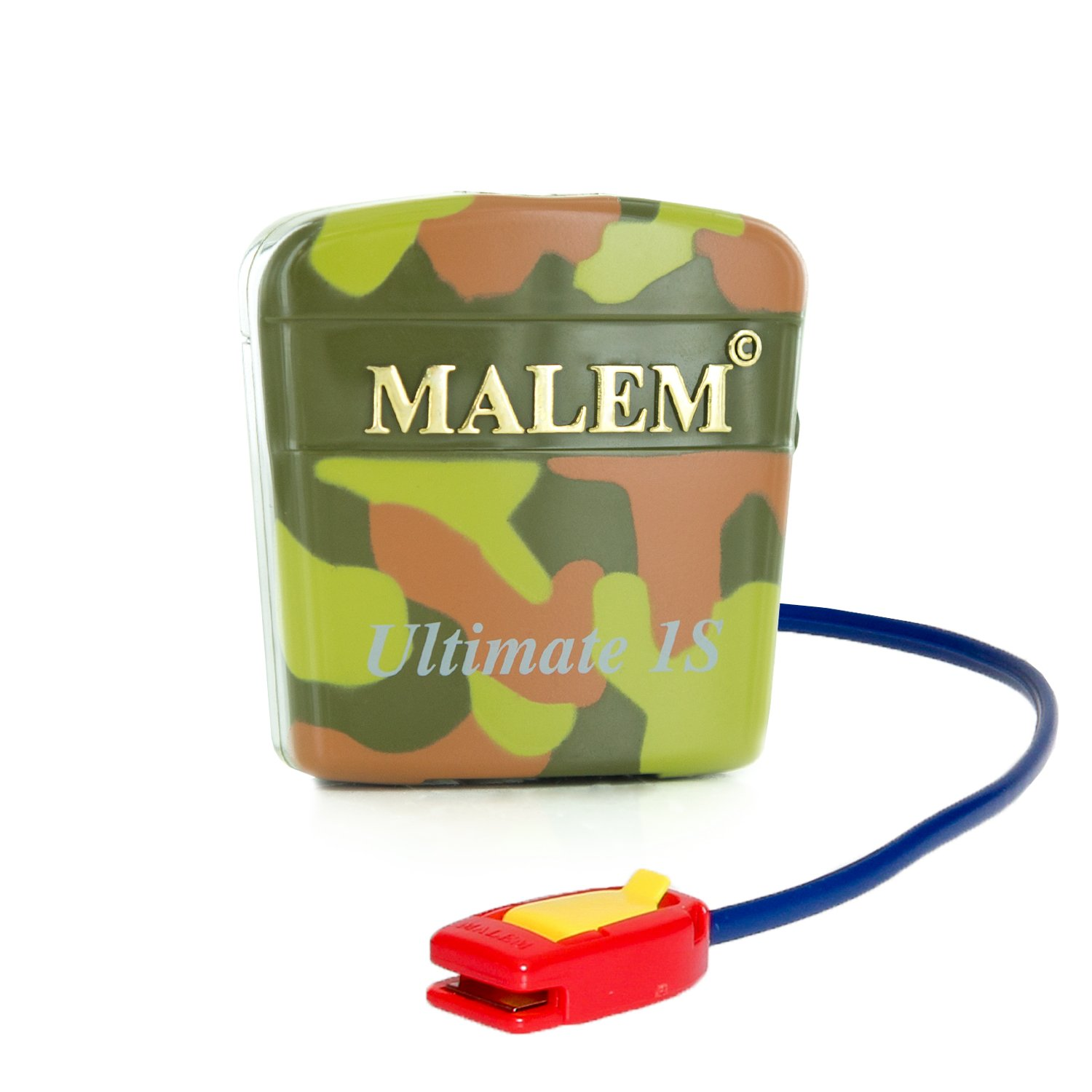 Malem Ultimate PRO Selectable Camouflage Bedwetting Alarm for Girls & Boys with Loud Sound and Strong Vibration to Stop Bed Wetting by Malem