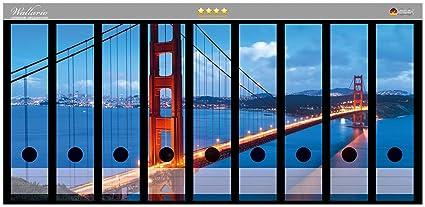 Archivadores diseño de puente Golden Gate de San Francisco, Estados Unidos en alta calidad -
