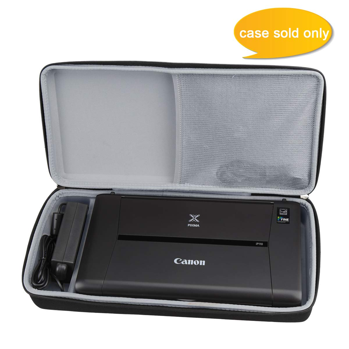 Aproca Hard Carrying Travel Case Fit Canon PIXMA iP110 Wireless Mobile Printer (Black)
