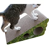 Evelots Reversible Inclined Wedge Corrugated Cat Scratcher,Lasts Twice as Long