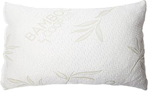 Coop Home Goods - Shredded Memory Foam Pillow with Non-Removable Cover Made from Bamboo Derived Rayon and Polyester Cooling Blend - Made 100% in USA (King)