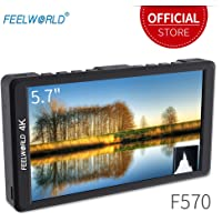 "Feelworld F570 Kamera Feld Monitor 5.7"" 4K Ultra HD 1920x1080 LCD IPS Bildschirm 16:9 mit HDMI für DSLR Camera Sony Canon Nikon Olympus Pentax Panasonic"