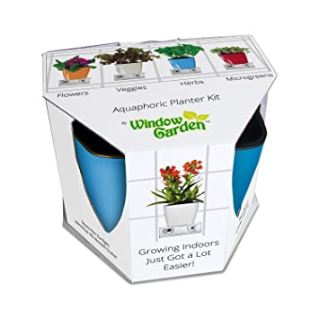 Amazoncom Aquaphoric Indoor Garden Kit Self Watering Planter
