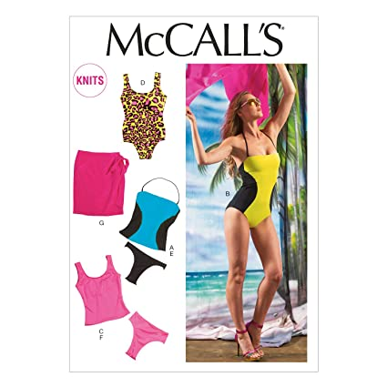 d973ca1e57 Amazon.com: McCall Pattern Company M6759 Misses' Swimsuits and Cover ...