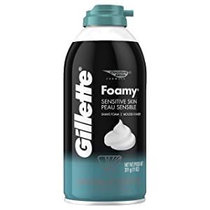 Gillette Foamy Shaving Cream, Sensitive Skin, 11 Ounce
