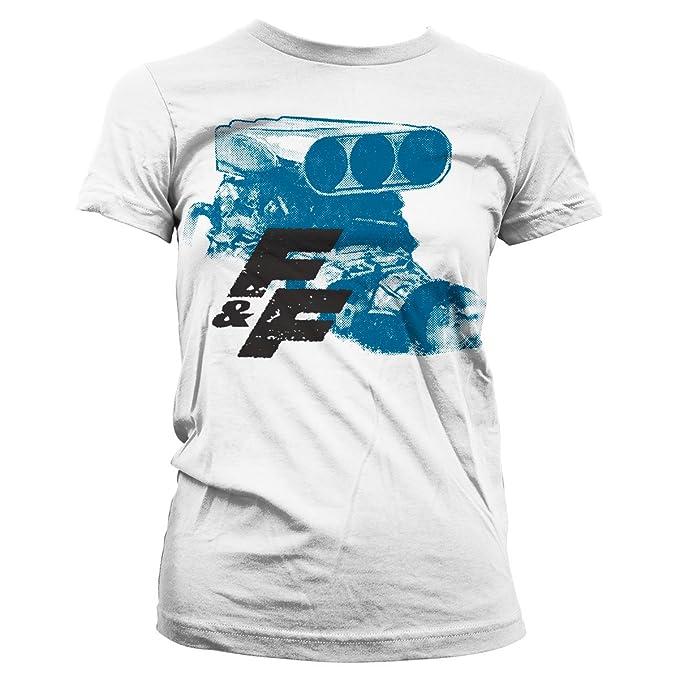 Oficialmente CamisetaAmazon Licenciado Engine Fastamp; Mujer Furious 8kOX0wNnP