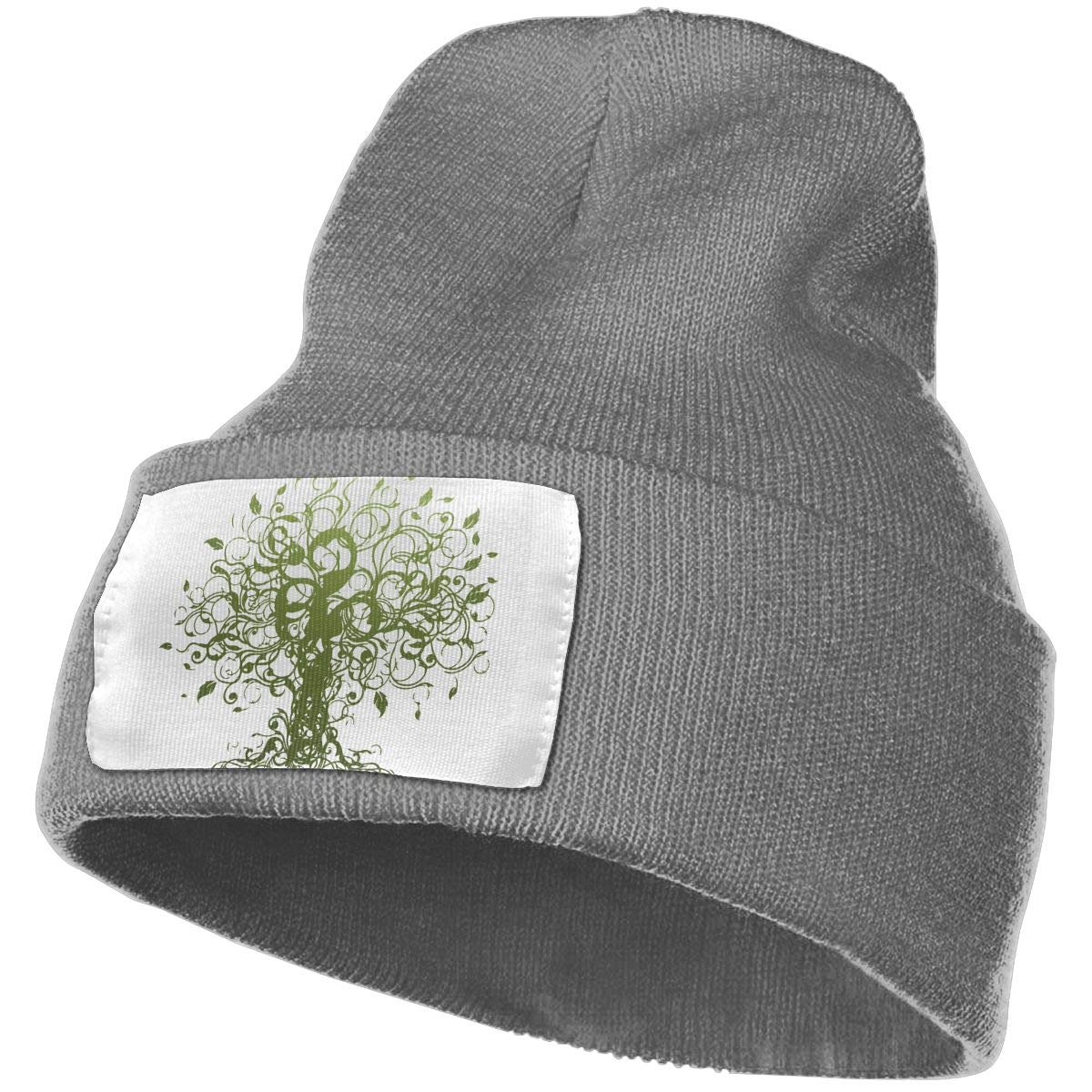 Meditation Spiritual Tree Beanie Hat Cuffed Plain Skull Knitted Hat Stylish