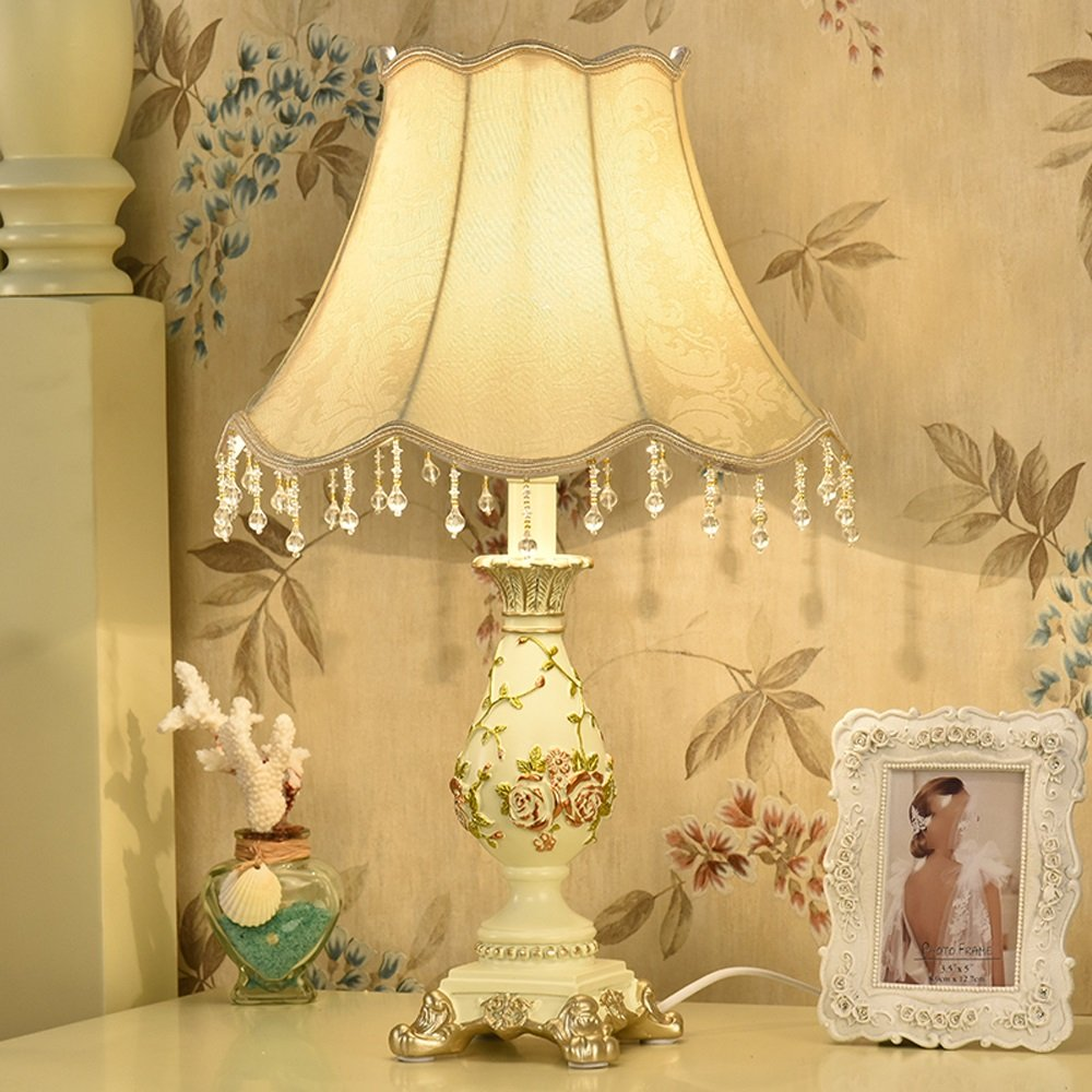 ZB Lámpara De De Lámpara Tabla, Estilo Europeo Retro Simple Marriage Room Creative Hotel/Dormitorio / Lámpara De Cabecera/Regalo, 33  52cm A+ (Color : E) a76991