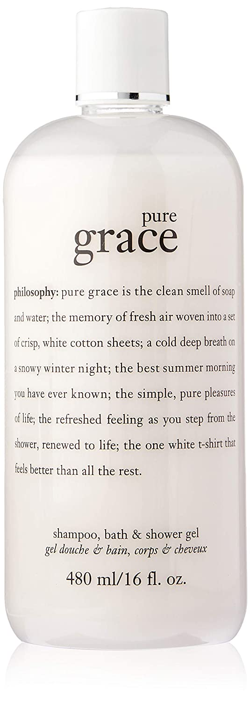 Philosophy Pure Grace Shampoo, Bath & Shower gel, 16 Ounces