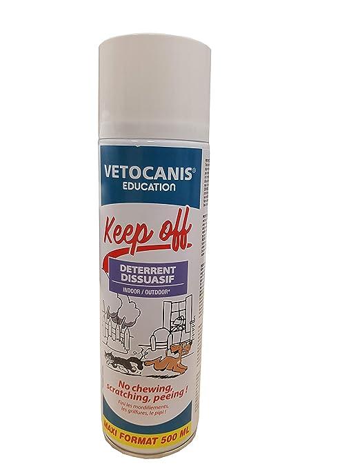 Vetocanis exterior o interior Disuasión Spray para perros y gatos 500 ml