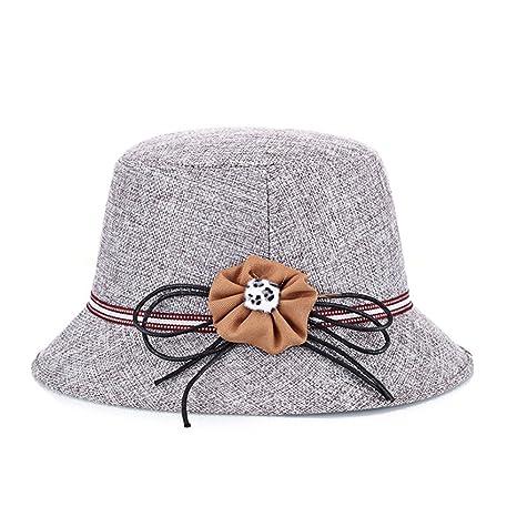 Hosaire 1x Sombreros del Sol Anudado Flores para Mujer Gorras de Visera UPF  50+ Protección d3056c320ab
