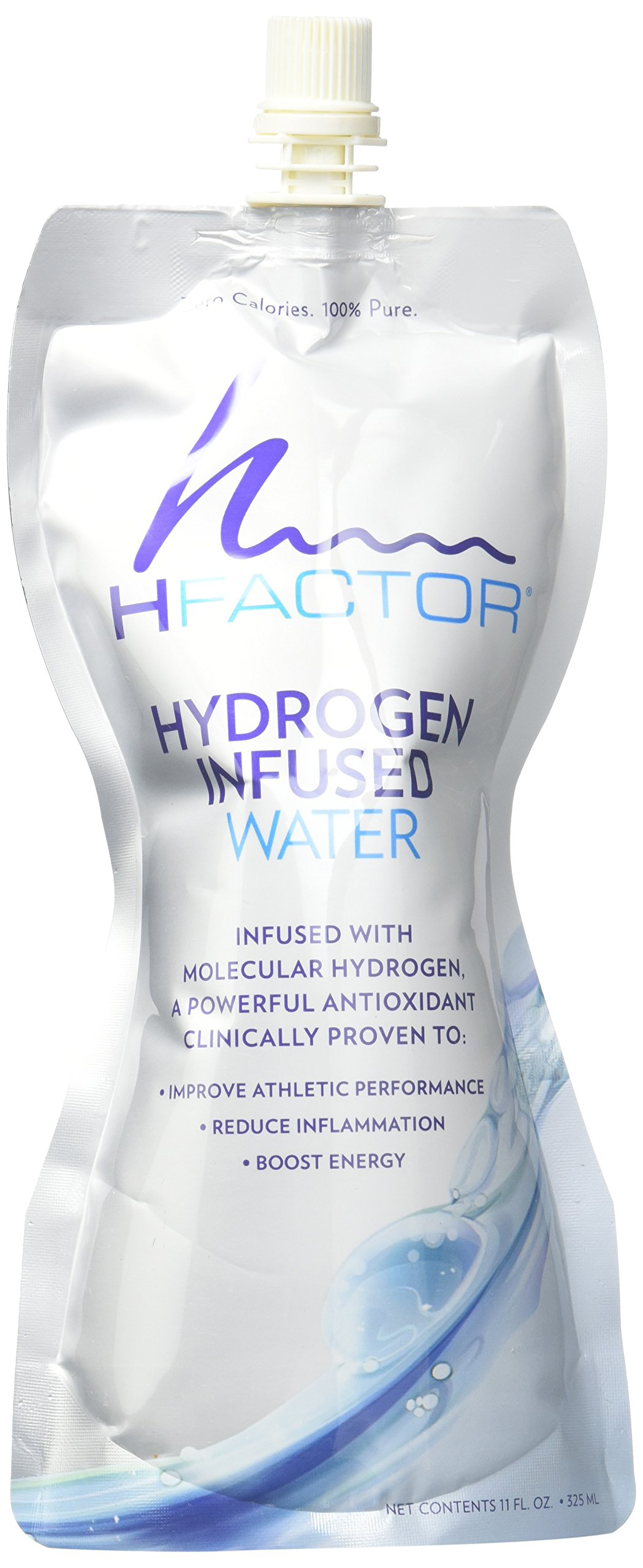 HFactor Hydrogen Infused Water, Pure Drinking Water (24 Pack Spout), 11 fl oz