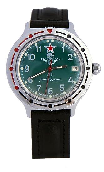Vostok KOMANDIRSKIE reloj de Comandante Ruso Militar Paracaidista Militar VDV 2416/921307