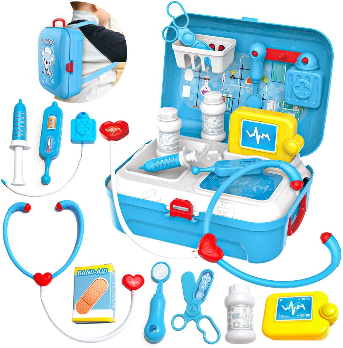 TW24 Kinder Arztkoffer Spielzeug Doktorkoffer Spielset Arzt Koffer Set Medizinkoffer Doktor Medizin Arztset