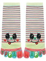 uxcell Child Stripes Letters Smiley Face Print Crew Full Toe Socks 8-9.5