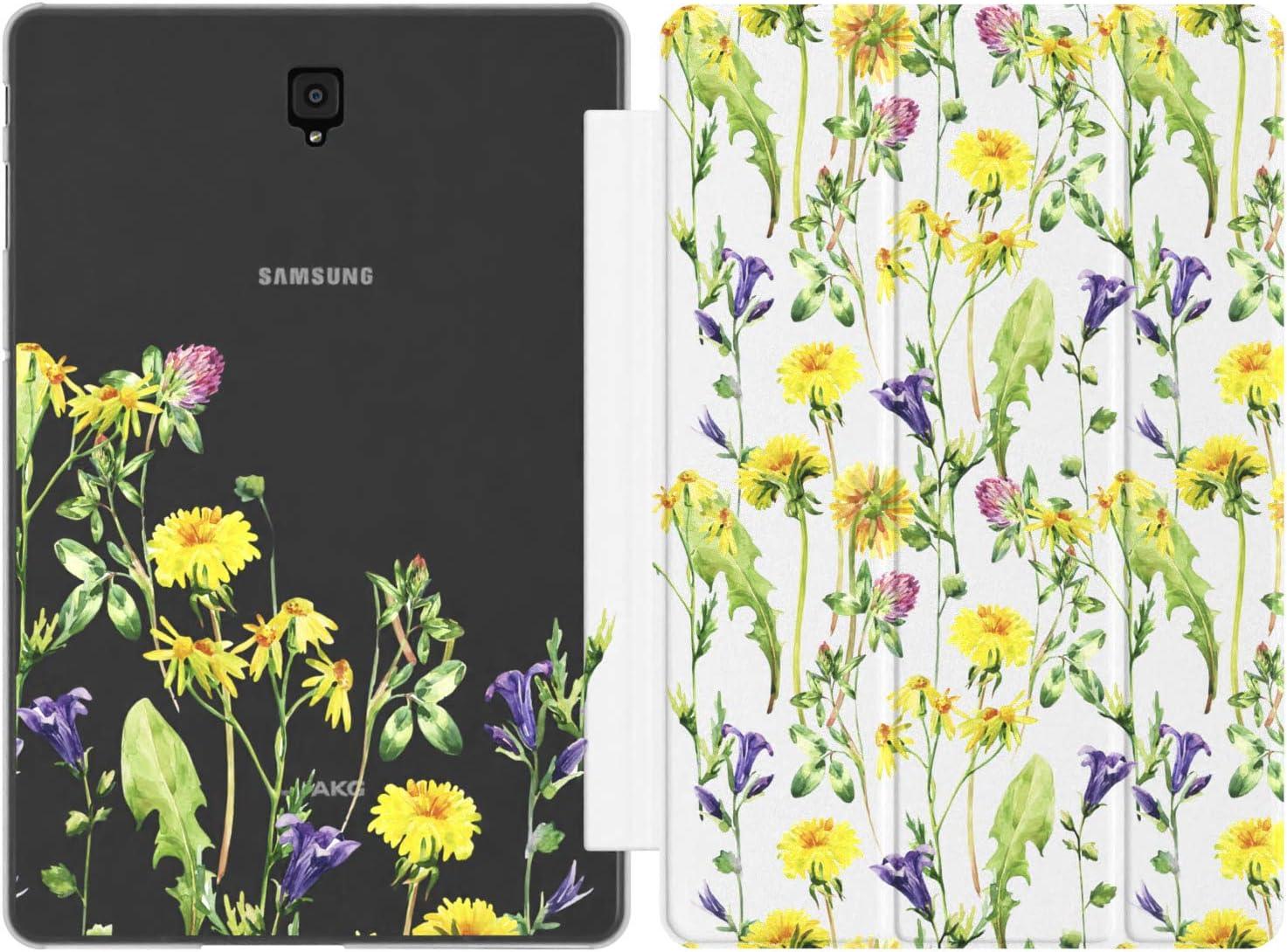 Mertak Case Compatible with Samsung Galaxy Tab S6 Lite S5e S4 A 10.5 A 10.1 2019 S3 S2 A 8.0 9.7 E Meadow Plant Dandelion Auto Wake Sleep Cute Design Flowers Floral Print Magnetic Closure Summer