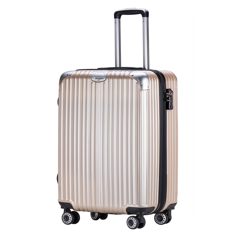 OTT スーツケース 超軽量 TSAロック搭載 Wファスナータイプ B07CYSMMRZ Lサイズ(7泊以上/5.4KG/93L)|チタンゴールド チタンゴールド Lサイズ(7泊以上/5.4KG/93L)