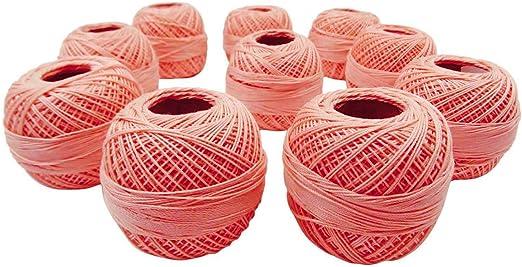 IBA Indianbeautifulart Lote de 10 Piezas de Crochet Hilo de ...
