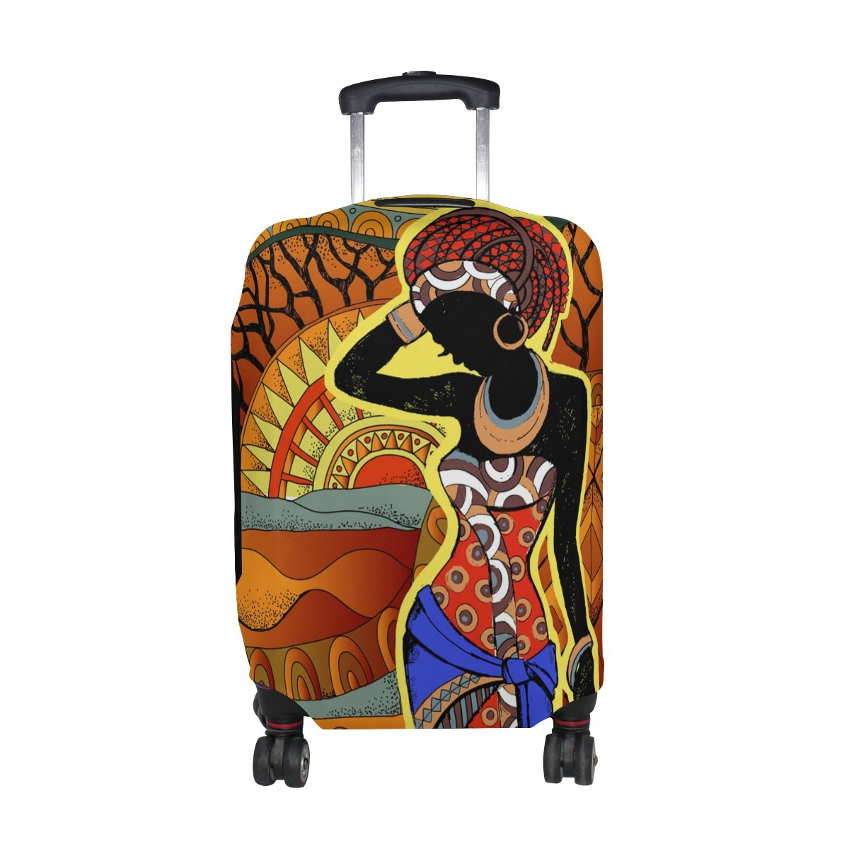My Daily African Woman Luggage Cover Fits 30-32 Inch Suitcase Spandex Travel Protector XL