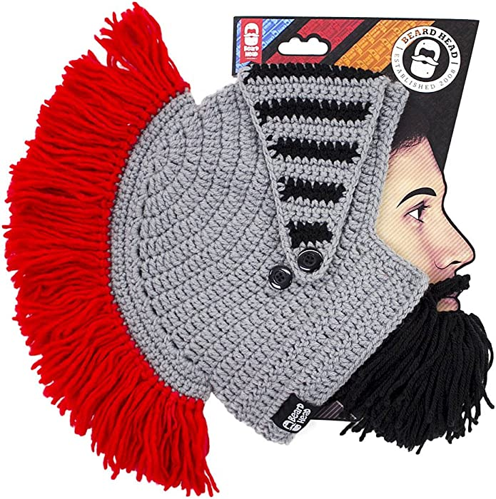 85f092dec4a Amazon.com  Beard Head Knight Beard Beanie - Funny Knitted Helmet ...