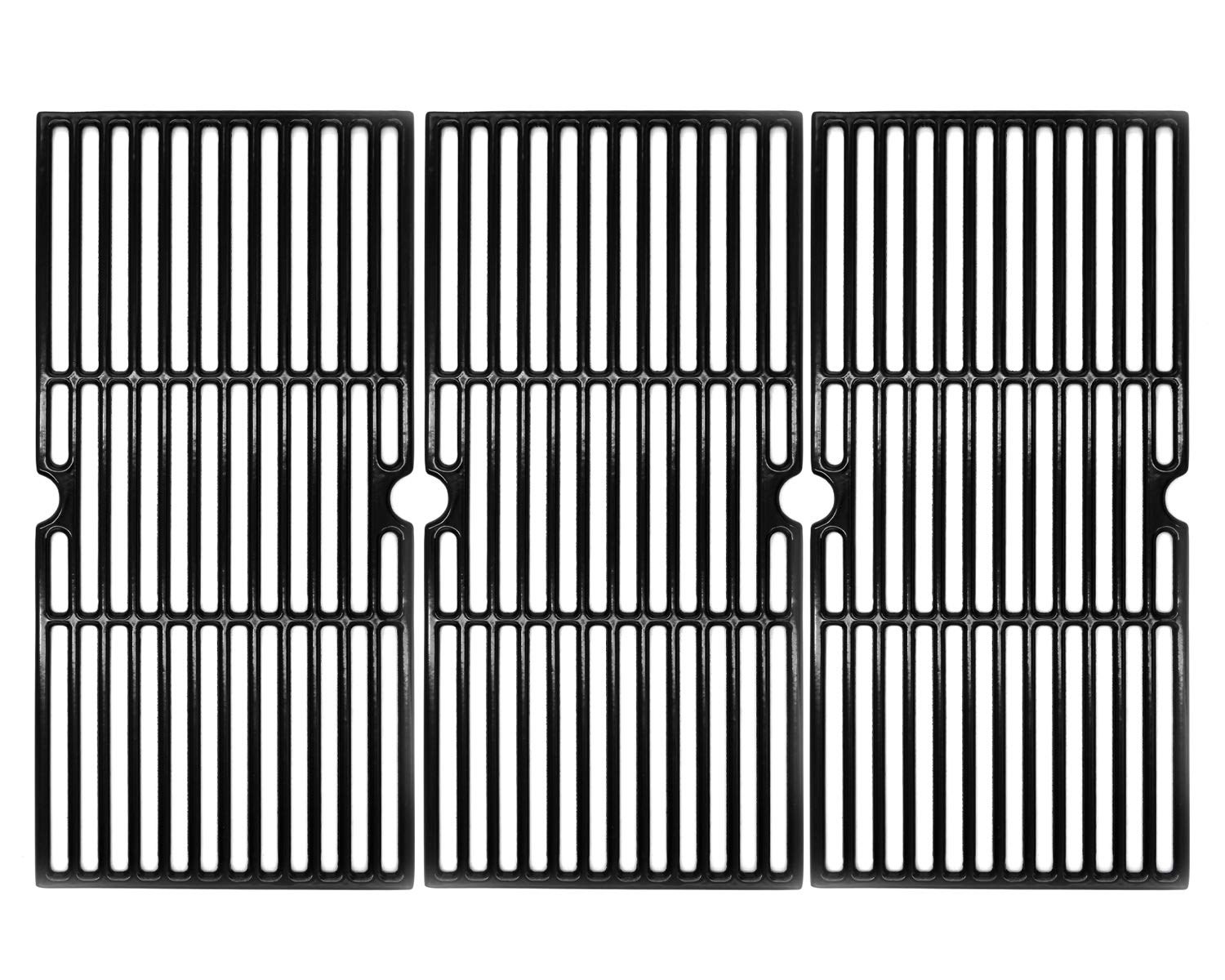 Hongso 19 1/16 Inch Porcelain Coated Cast Iron Cooking Grate Grid Grill Replacement for Brinkmann 810-1750-S, 810-1751-S, 810-3551-0 Gas Grill Models, BBQ Grill Grates, Set of 3 (PCB006) by Hongso