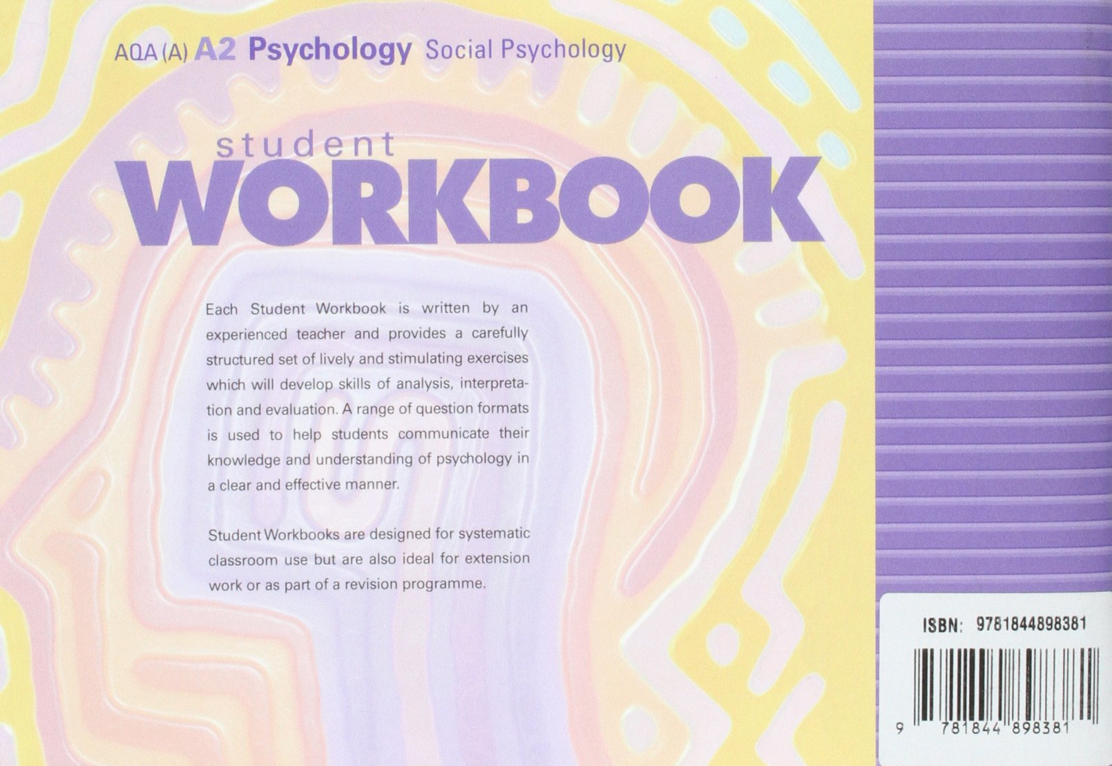 Workbooks psychology workbook : A2 Psychology AQA (A): Social Psychology Student Workbook: Amazon ...