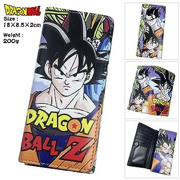 SWVV Paquete de Tarjeta Monedero Unisex Anime Hombre y Mujer Dragon Ball PU Larga Cartera en Relieve 1: Amazon.es: Equipaje
