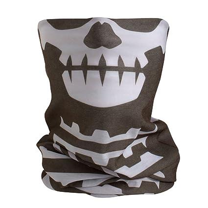 BlackNugget Calavera Esqueleto Calavera disfraz de Halloween ...