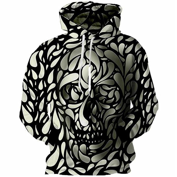 XLMSES Calaveras 3D Sudaderas Hombres Spot Cráneo Impresión 3D Hoody Sudaderas Jerseys Tops Ropa Streetwear Diseño Caliente Grandes: Amazon.es: Ropa y ...