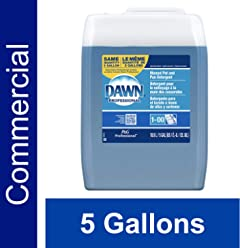 Dishwashing Liquid Soap Detergent by Dawn Professional, Bulk Degreaser Removes Greasy Foods from Pots,