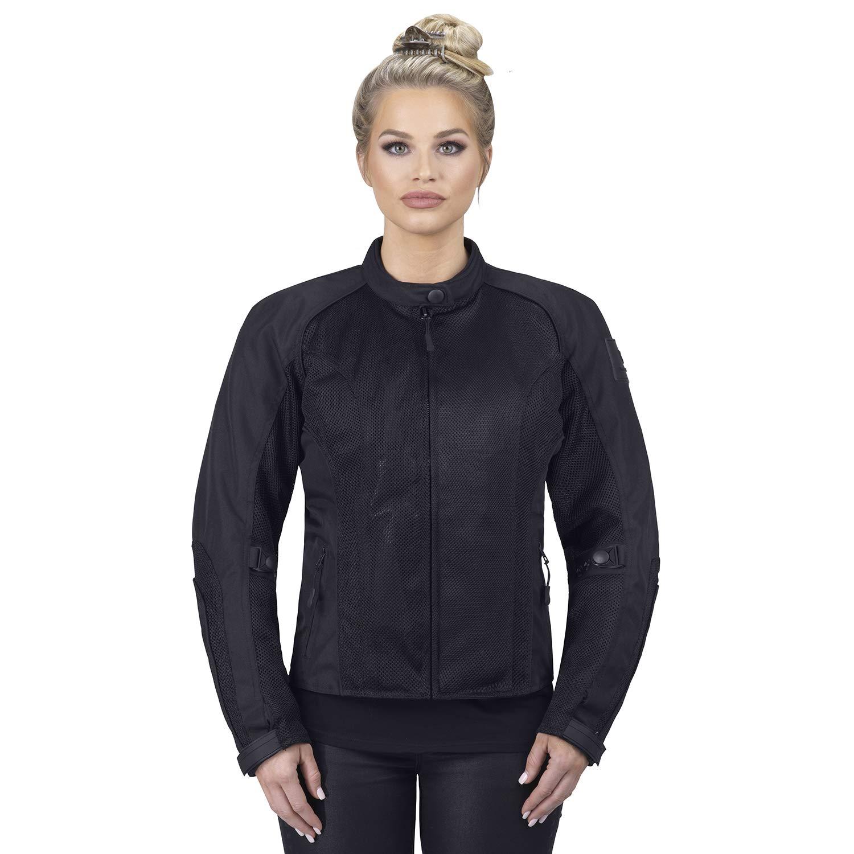 Viking Cycle Warlock Women's Motorcycle Jacket (X-Large) Black