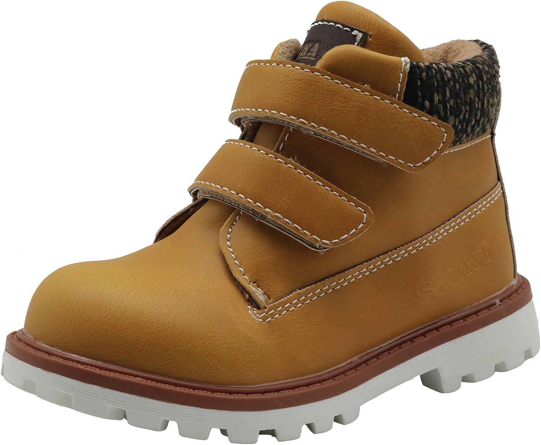 Apakowa Autumn Winter Toddler Boys Cowboy Martin Boots