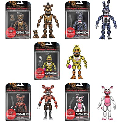 """Funko Five Nights at Freddy's Series 2 Articulated 5"""" Action Figures (Set of 5): Toys & Games"""