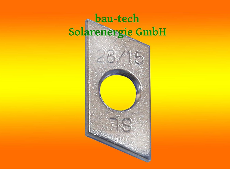 50 Schiebemuttern M8 Edelstahl A2 von bau-tech Solarenergie GmbH