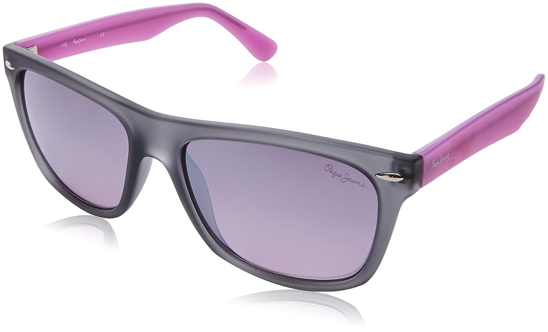 Pepe Jeans Pj7185C655 Gafas de sol, Gris/Rosa, 55 para Mujer