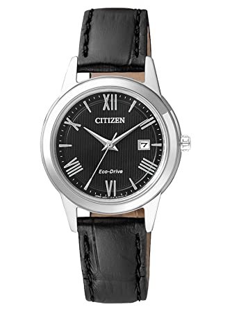 Citizen damen armbanduhr analog quarz leder fe1083 02a