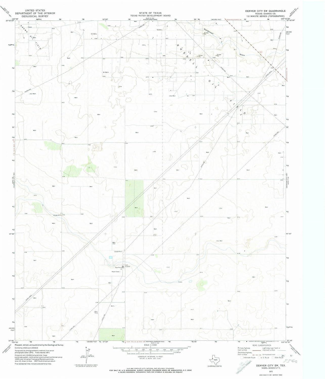 Amazon.com: Texas Maps | 1971 Denver City, TX USGS Historical ... on